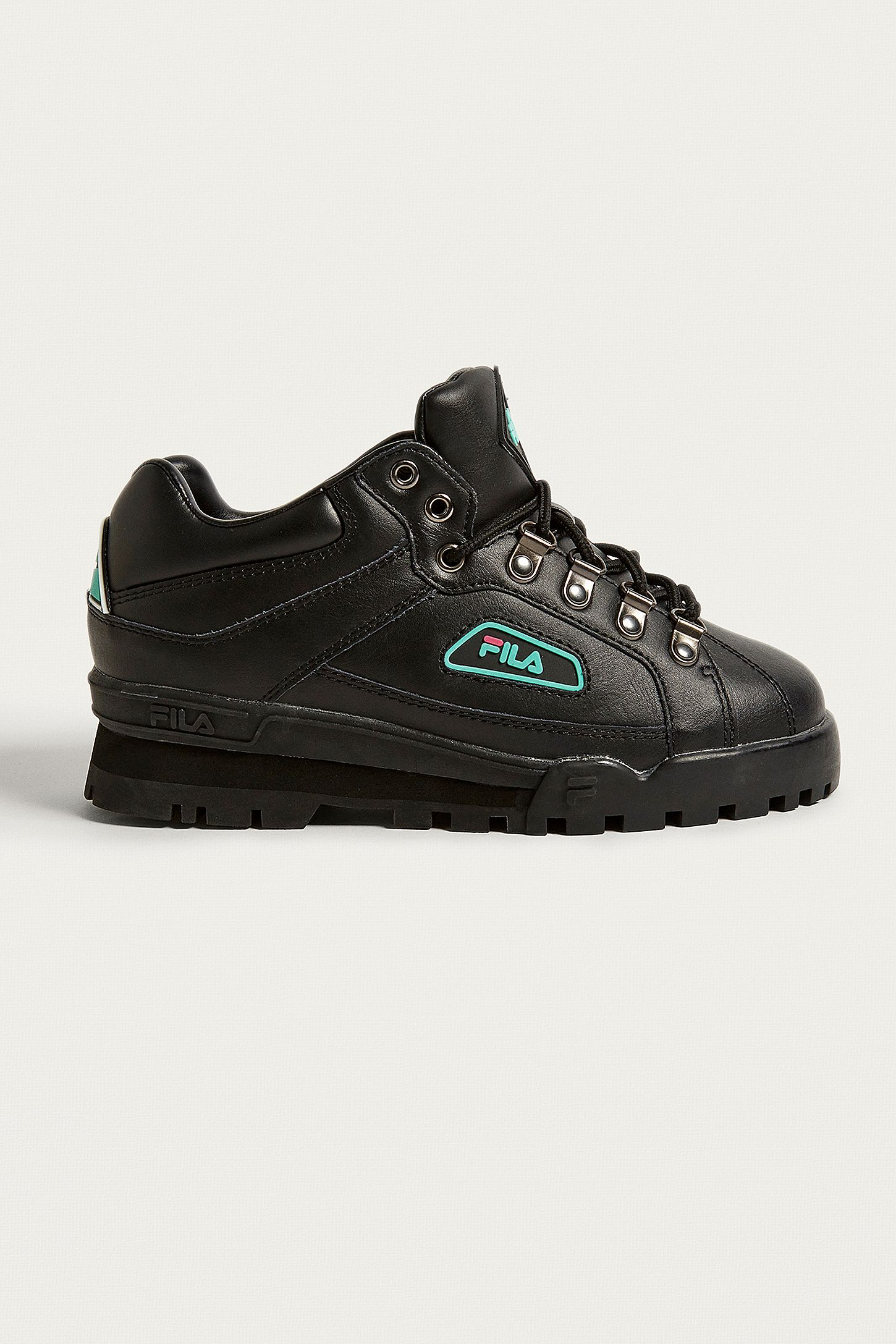 4b81b94e5ac2 FILA Black   Turquoise Trailblazer Boots. Click on image to zoom. Hover to  zoom. Double Tap to Zoom