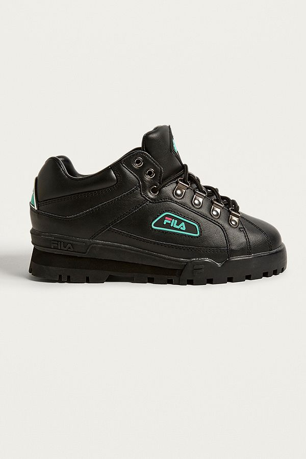 94919996974d FILA Black   Turquoise Trailblazer Boots