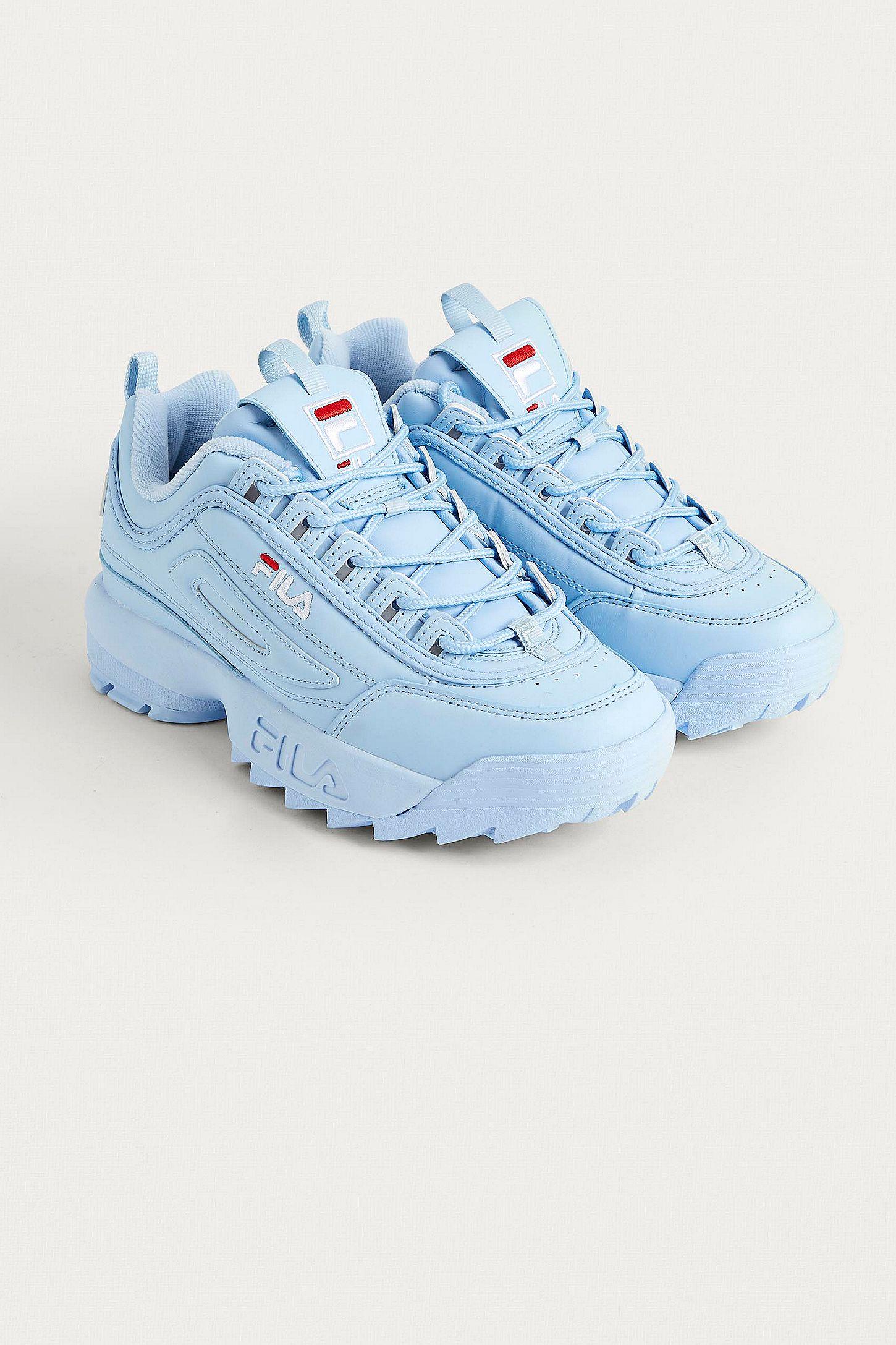 5236f3f89e33e FILA Disruptor Baby Blue Trainers