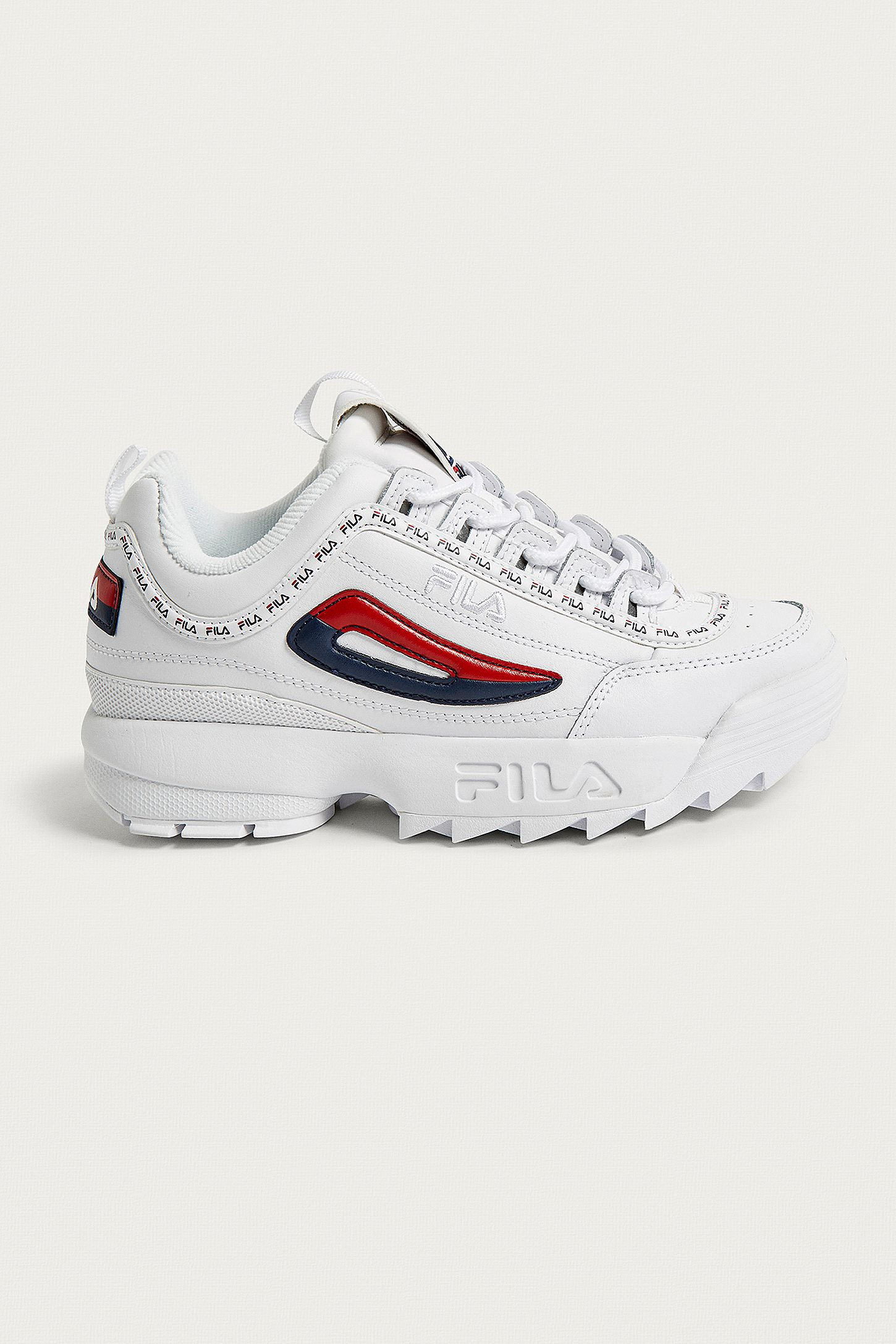 ed35e3ec26e FILA Disruptor II Premium White Trainers. Click on image to zoom. Hover to  zoom. Double Tap to Zoom