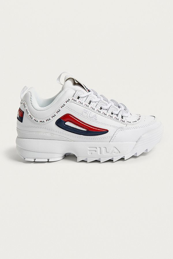 3904fe27851a FILA Disruptor II Premium White Trainers | Urban Outfitters UK