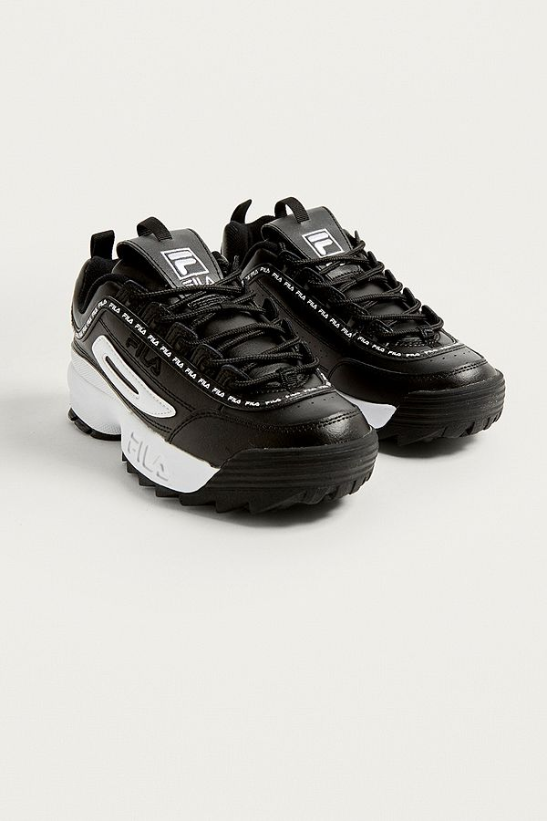 official store variety design in stock FILA Disruptor II Premium Black Trainers
