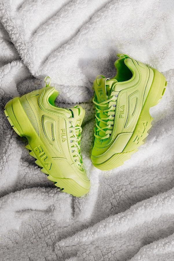wide selection retail prices lowest price FILA Disruptor Premium Green Trainers
