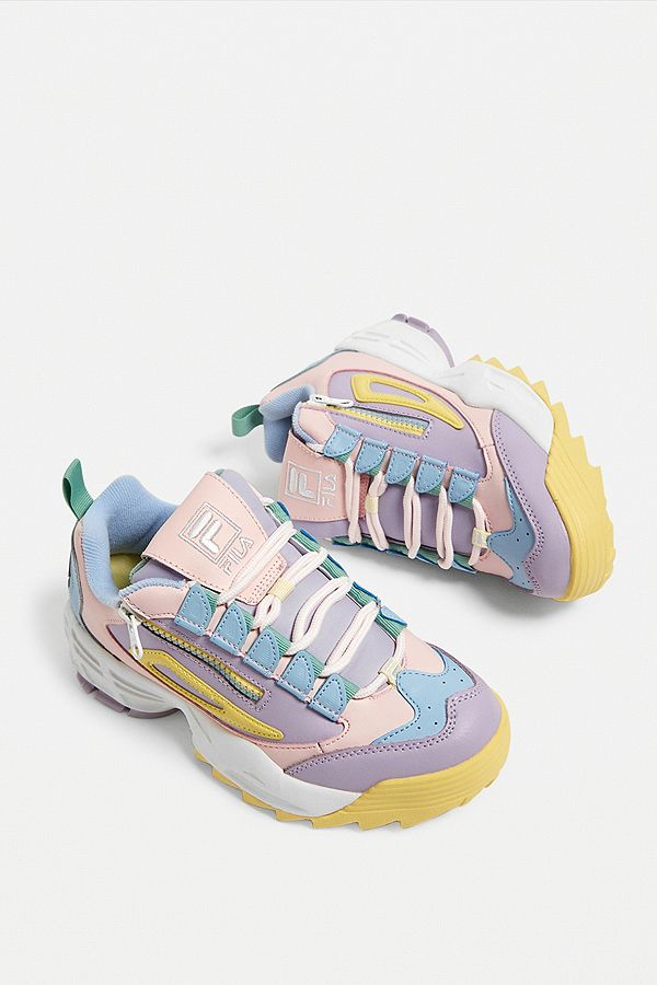 62aa346a5e6d Slide View  1  FILA Disruptor 3 Zip Pink Trainers