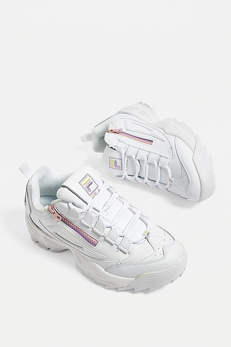 d22df16c08bf FILA Disruptor 3 Zip White Trainers