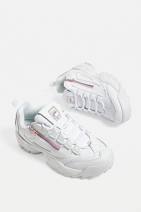 FILA Disruptor 3 Zip White Trainers