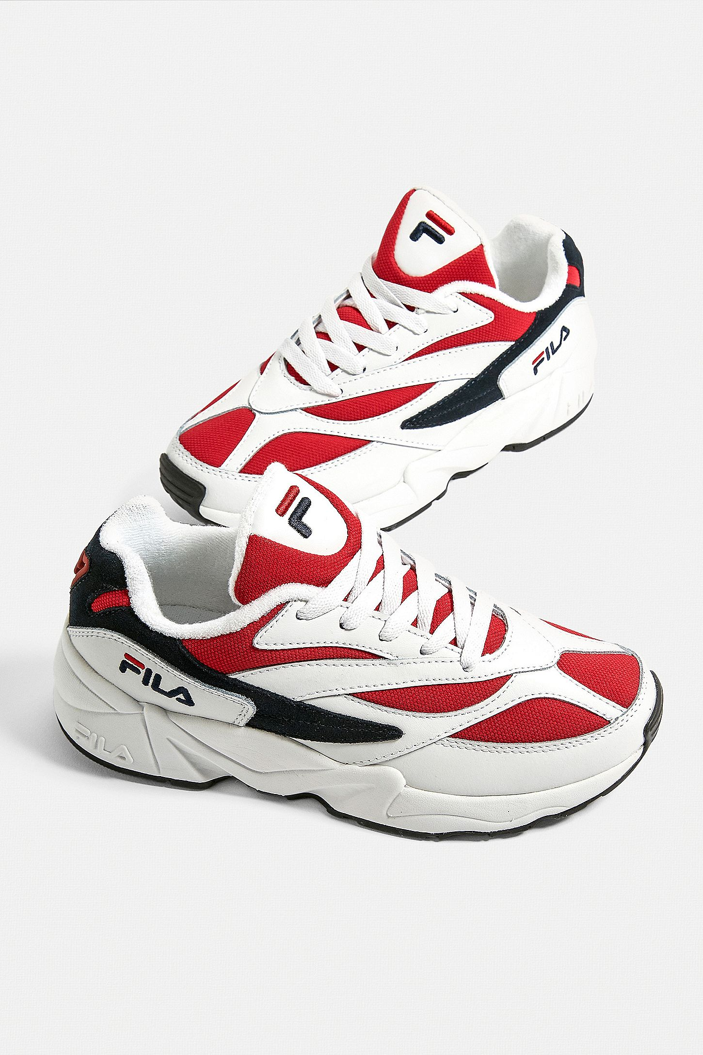 FILA Venom White + Red Trainers