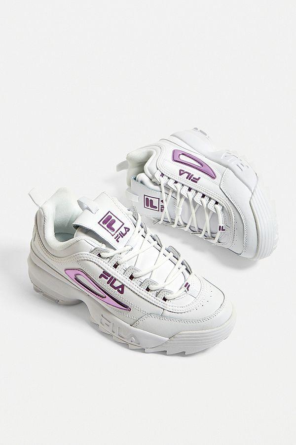 FILA Baskets Disruptor II Premium empiècements violets