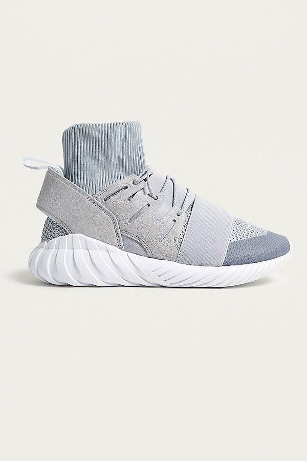 outlet store c2809 c7864 adidas Originals Tubular Doom Winter Grey Primeknit Sock Trainers