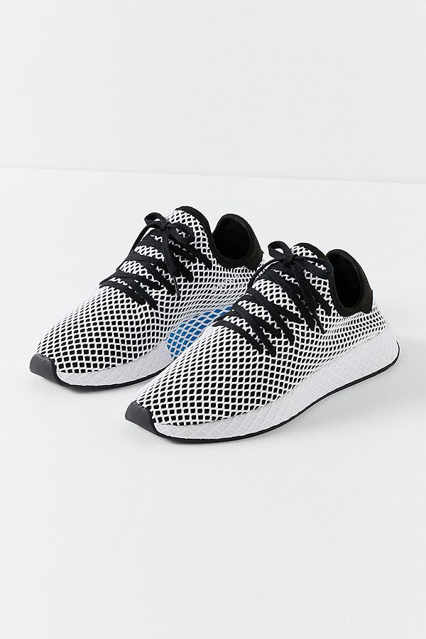 59cb089d0 adidas Originals Deerupt Black and White Running Trainers
