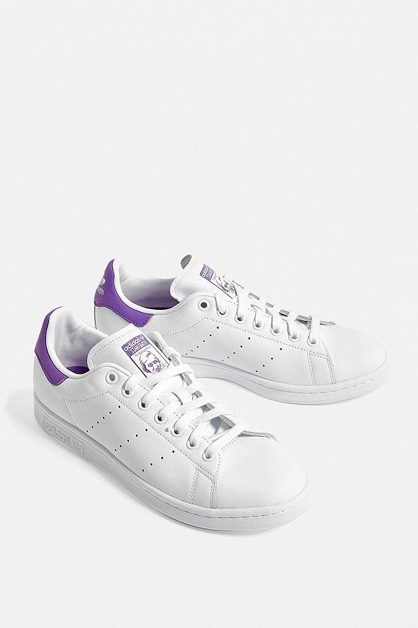 adidas Originals - Baskets violettes Stan Smith