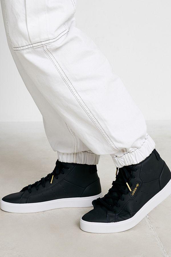 adidas Originals – Schnittige knöchelhohe Sneakers in Schwarz