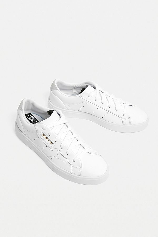 Slide View: 1: adidas Originals Sleek White Trainers