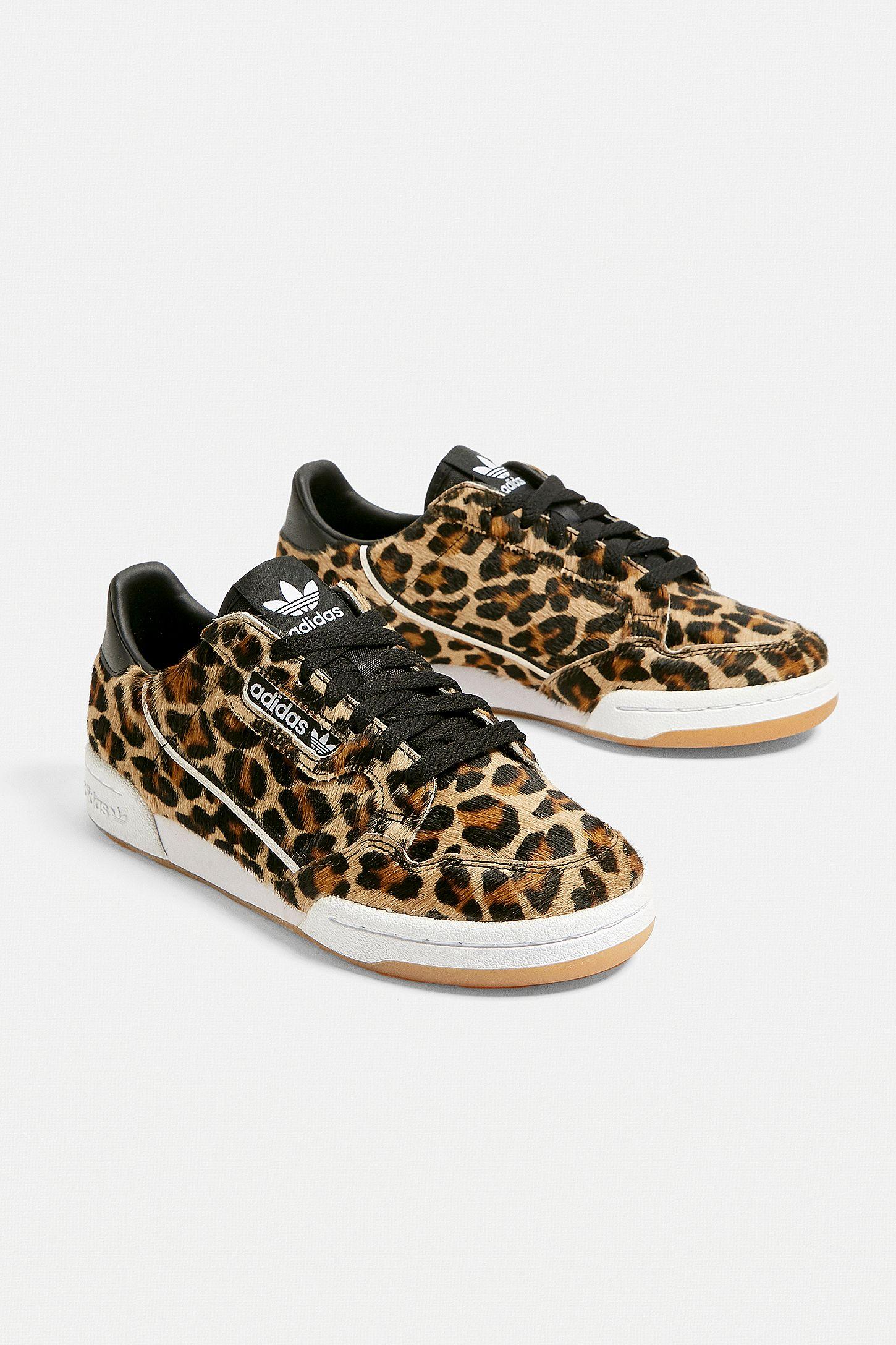 adidas Originals Continental Leopard Print Trainers