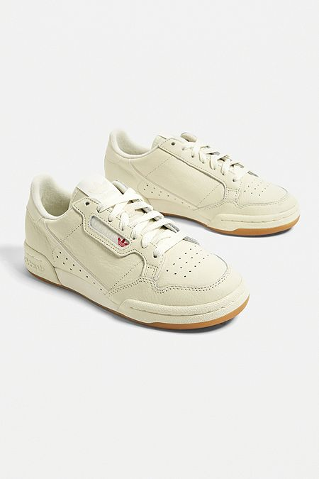 3e1768e97e3 adidas Originals Continental 80 White + Gum Trainers