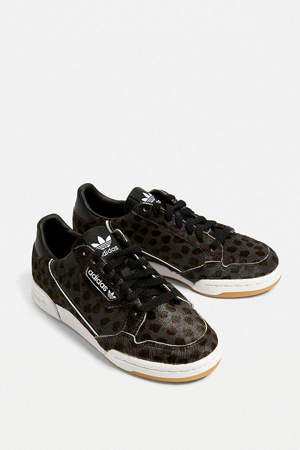 adidas Originals Baskets Continental à imprimé léopard