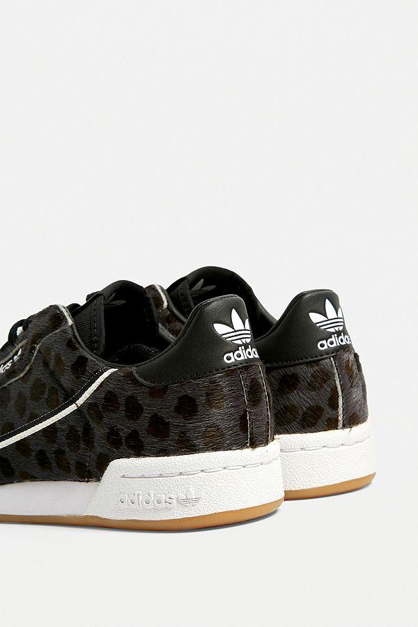 adidas Originals Baskets Continental à imprimé léopard foncé