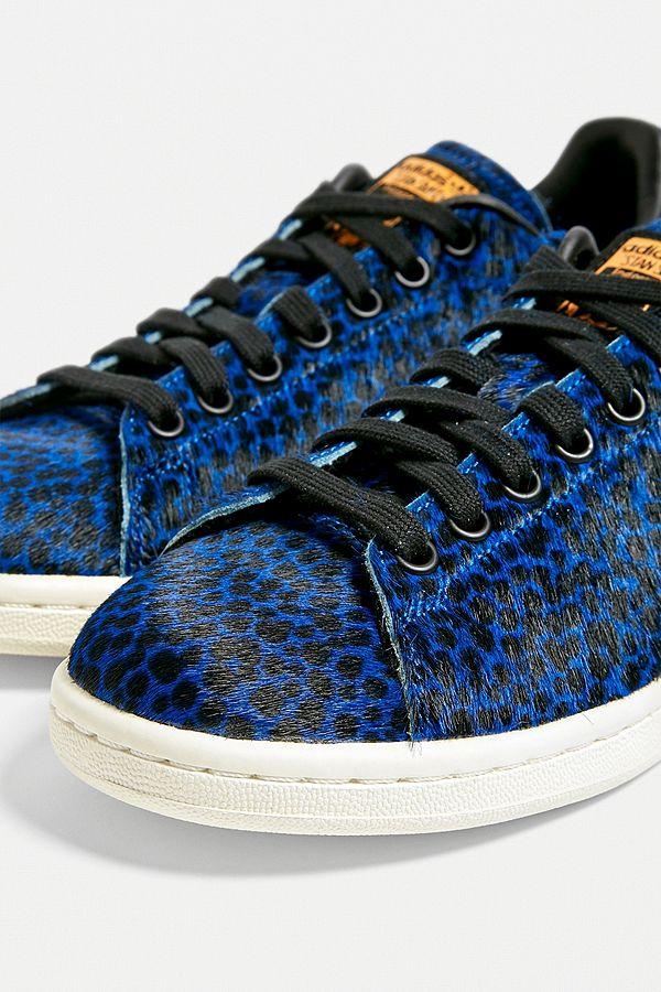 basket adidas leopard bleu