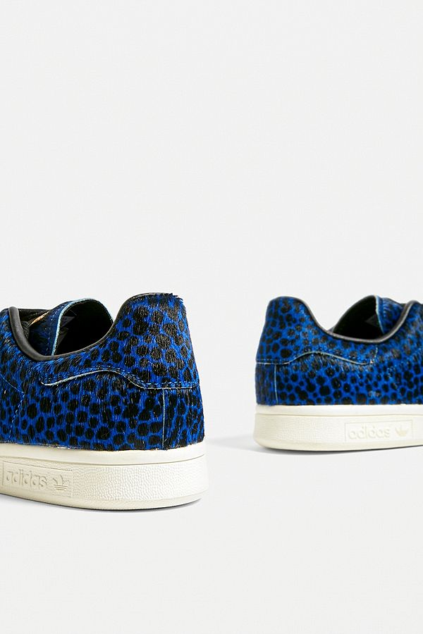 bas prix 8cf23 aa74e adidas Originals Stan Smith Blue Leopard Print Trainers