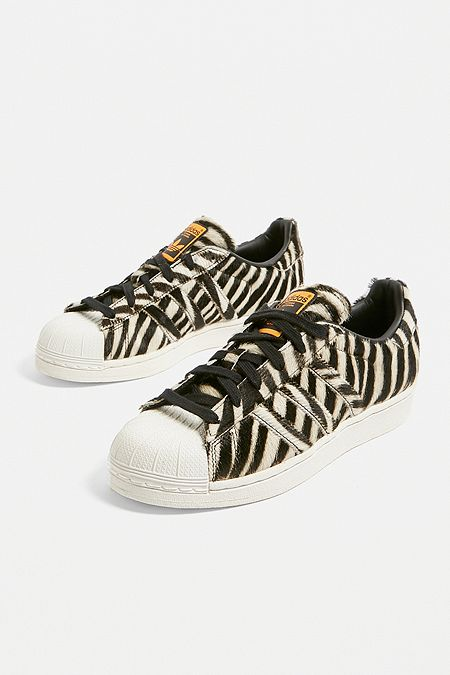 284798bc262c8 adidas Originals Superstar Zebra Print Trainers