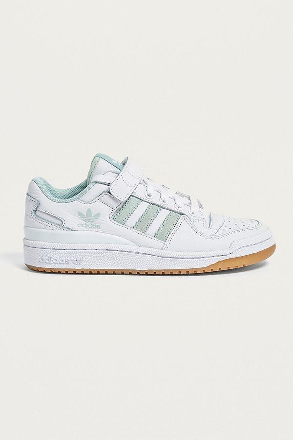 adidas Originals Baskets basses Forum blanches et vert menthe