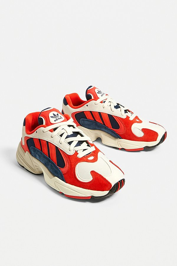 adidas Originals - Baskets Yung-1 rouge et bleu