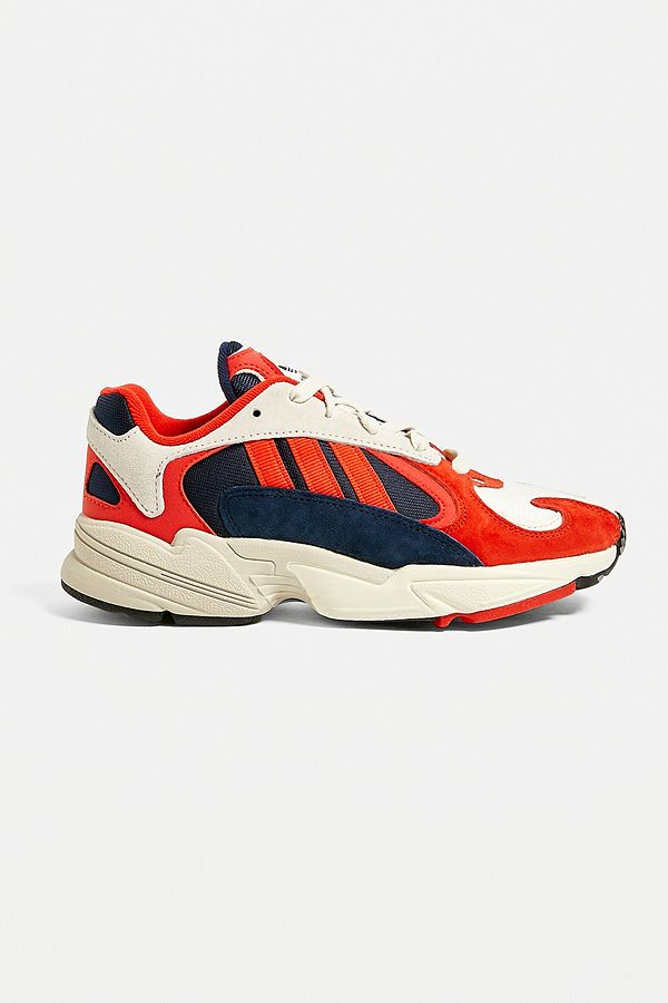 quality design cb8e2 39c58 Slide View  1  adidas Originals Yung-1 White + Red Trainers