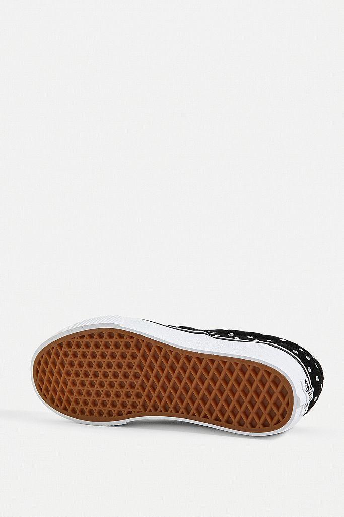 Baskets à plateforme Vans Slip on avec motif à pois