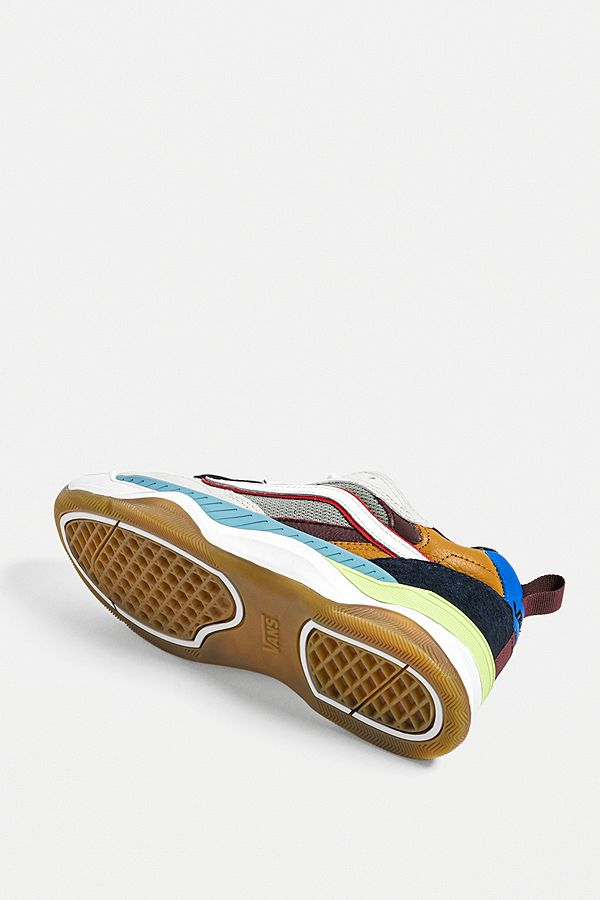 Slide View: 4: Vans Brux Multicolour Skate Trainers