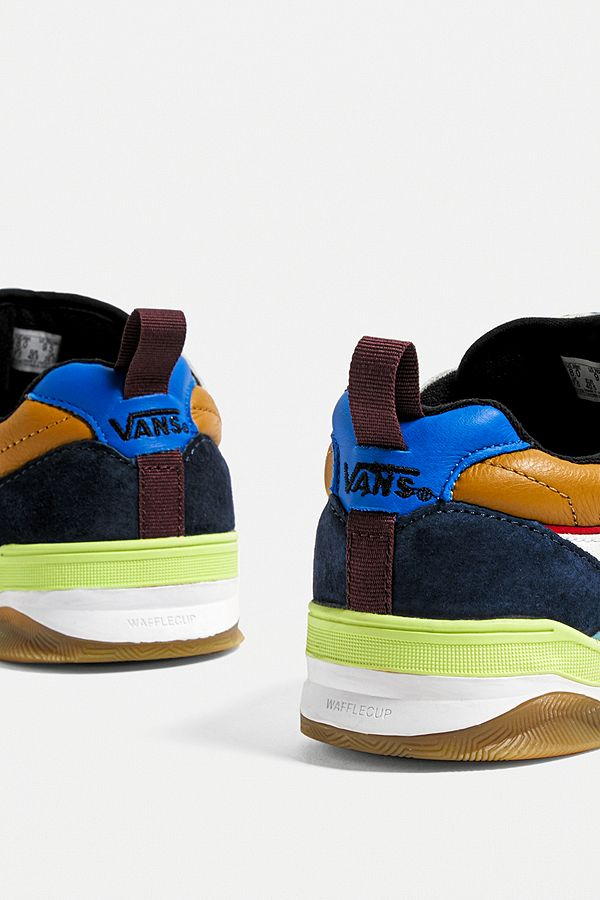 Slide View: 5: Vans Brux Multicolour Skate Trainers