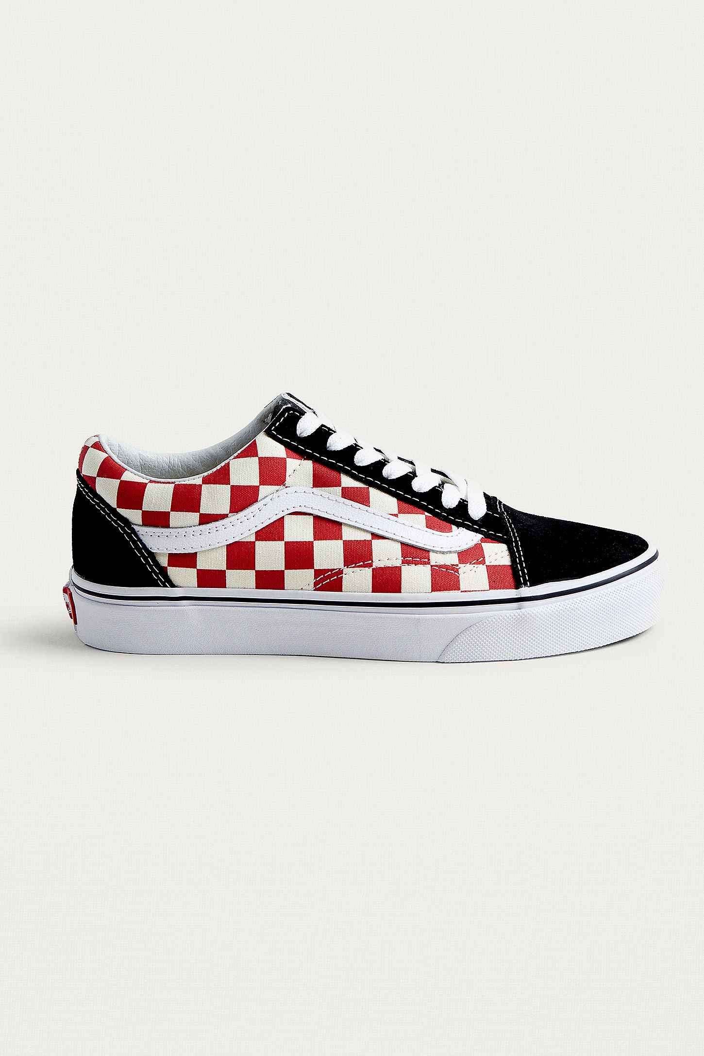 vans old skool rouge damier