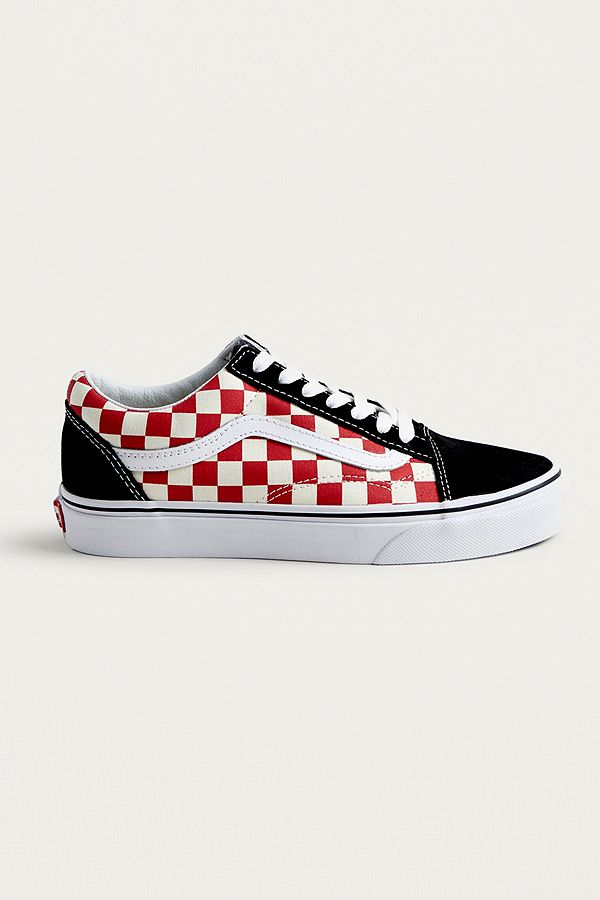 Vans Old Skool Red Checkerboard Trainers