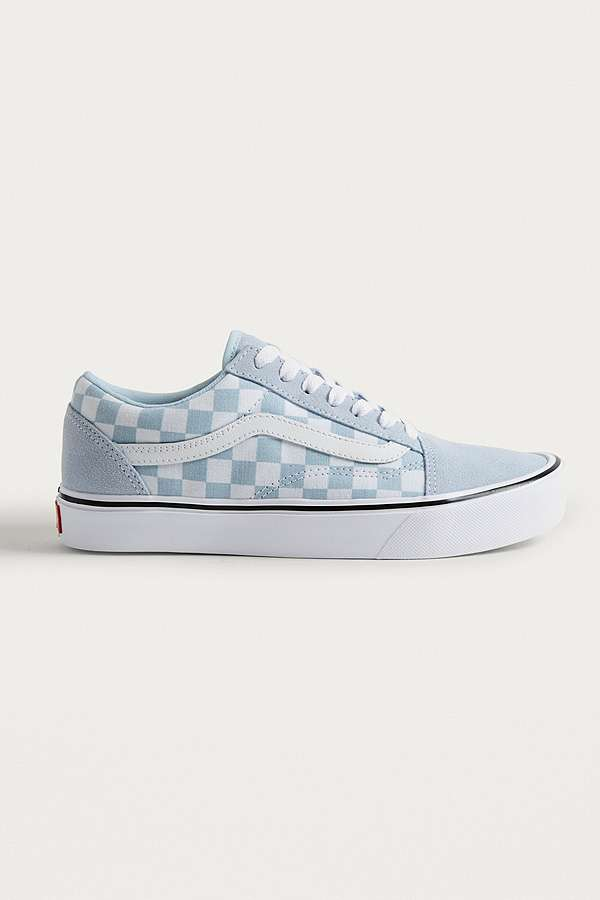 Vans Old Skool Light Blue Checkerboard Trainers