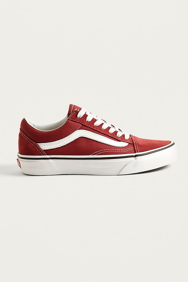 2696d4ab985a91 Vans Old Skool Burgundy Trainers
