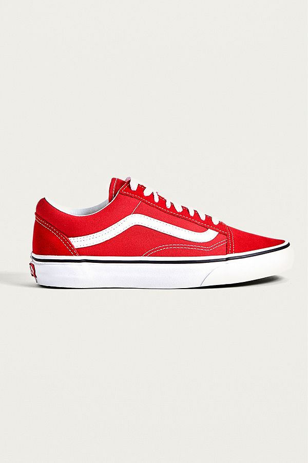 online retailer f90bc 0d160 Vans Old School Red Trainers