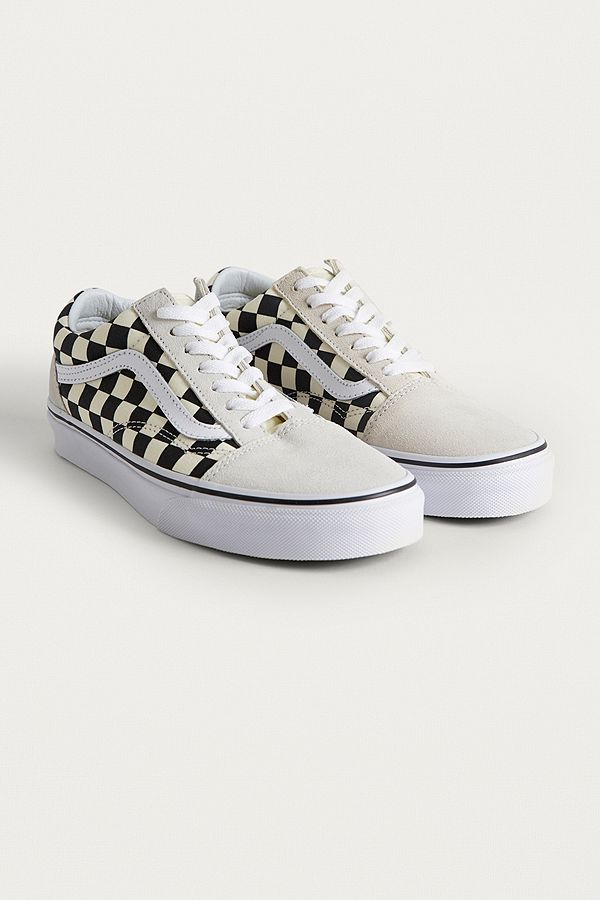 vans checkerboard blanche