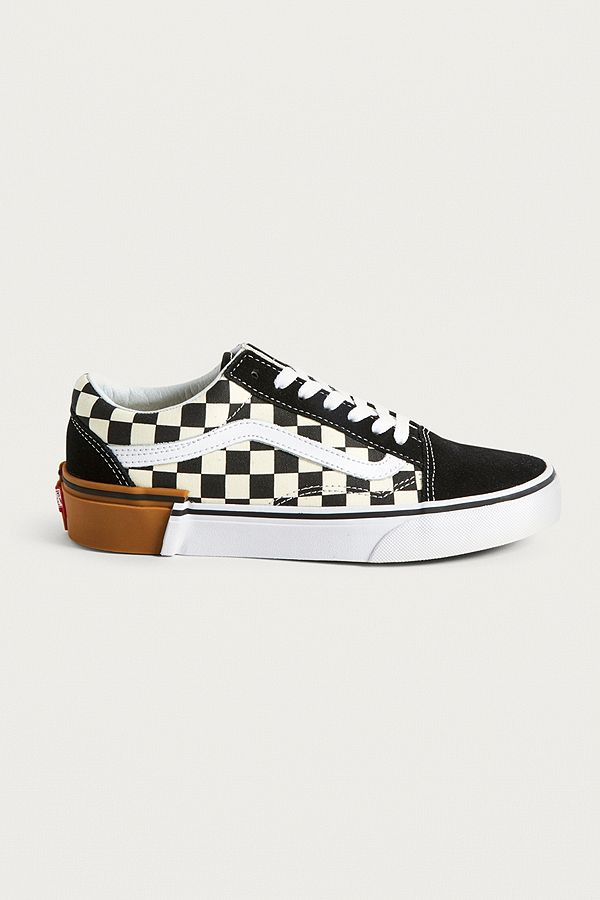 a6777784 Vans Old Skool Checkerboard Gum Sole Trainers