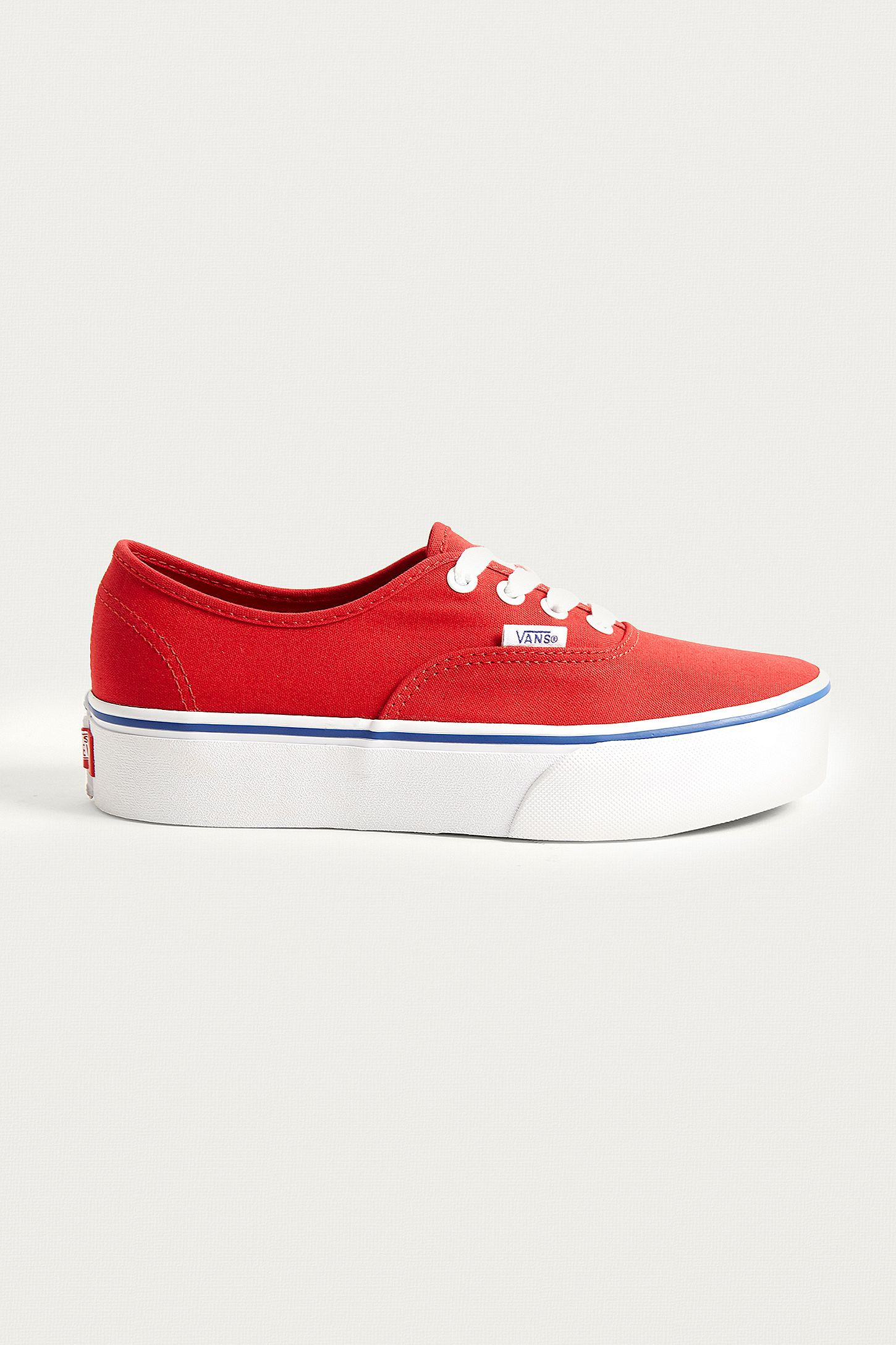 5672fa4d29 Vans Authentic Platform 2.0 Red Trainers. Click on image to zoom. Hover to  zoom. Double Tap to Zoom