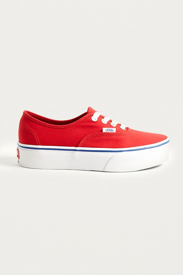 Vans Authentic Platform 2.0 Red Trainers