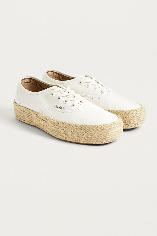 Vans Authentic Platform Espadrille Cream Trainers