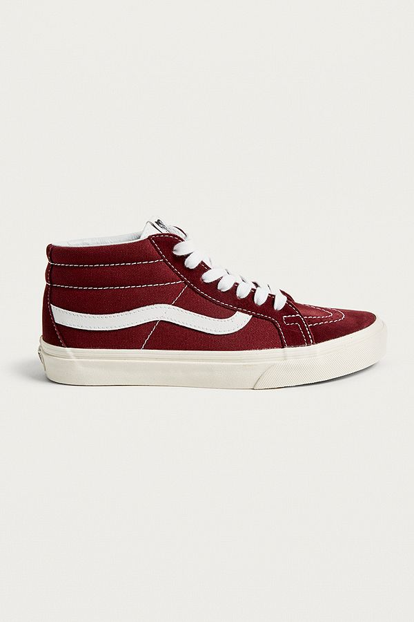 861191e074 Vans Sk8 Mid Reissue Maroon Trainers