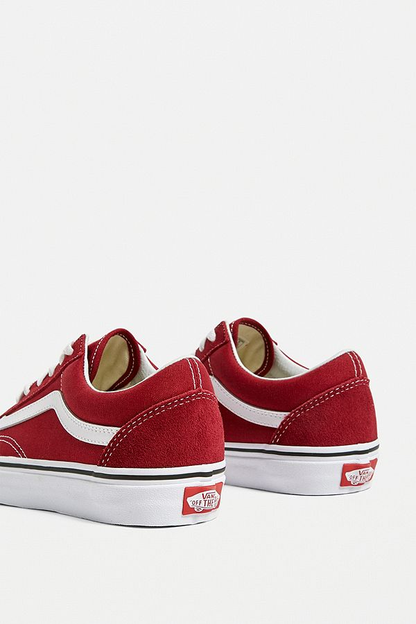 2e655e90c0e6 Slide View  4  Vans Old Skool Rumba Red Trainers