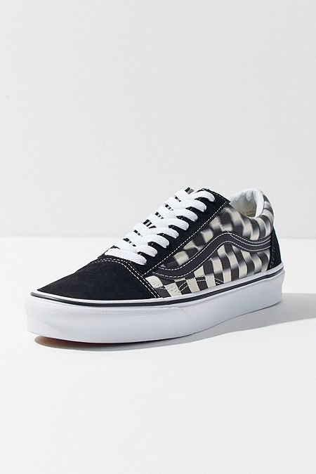 f86ccef2c6f Vans Old Skool Blurred Checkerboard Trainers