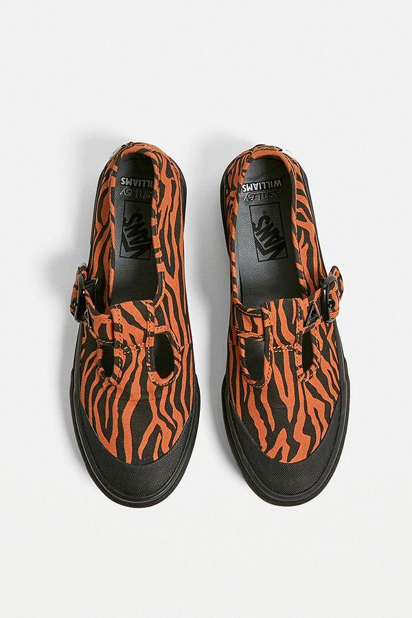 81cdb734a Slide View: 1: Vans X Ashley Williams UA 93 Tiger Print Mary Jane Trainers