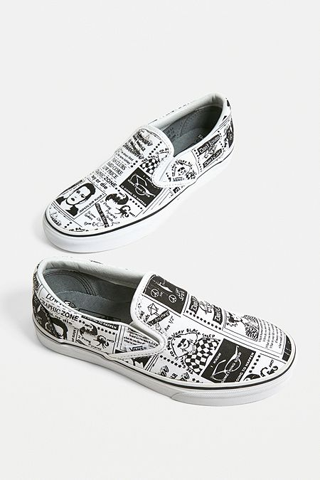 50d9cc729b36cb Vans X Ashley Williams Printed Slip-On Trainers