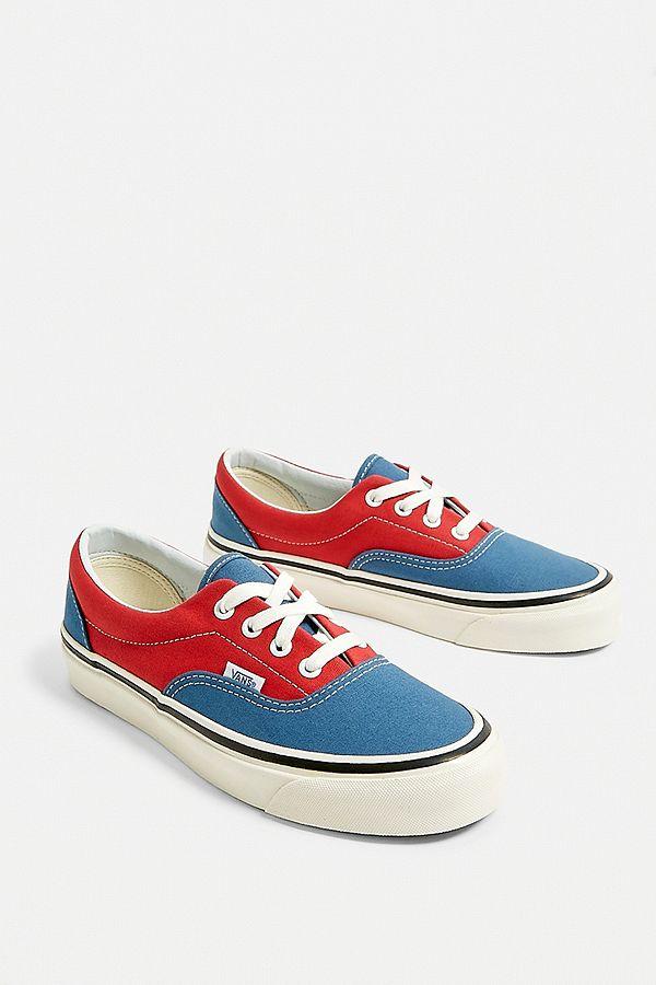 vans bleu rouge