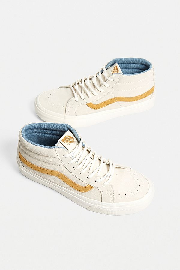 8d4a9510fd Vans Sk8 Mid Reissue White Trainers