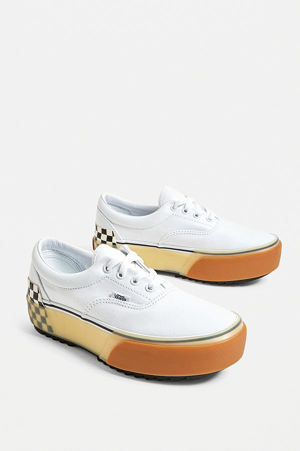 Vans Era Stacked Check Trainers