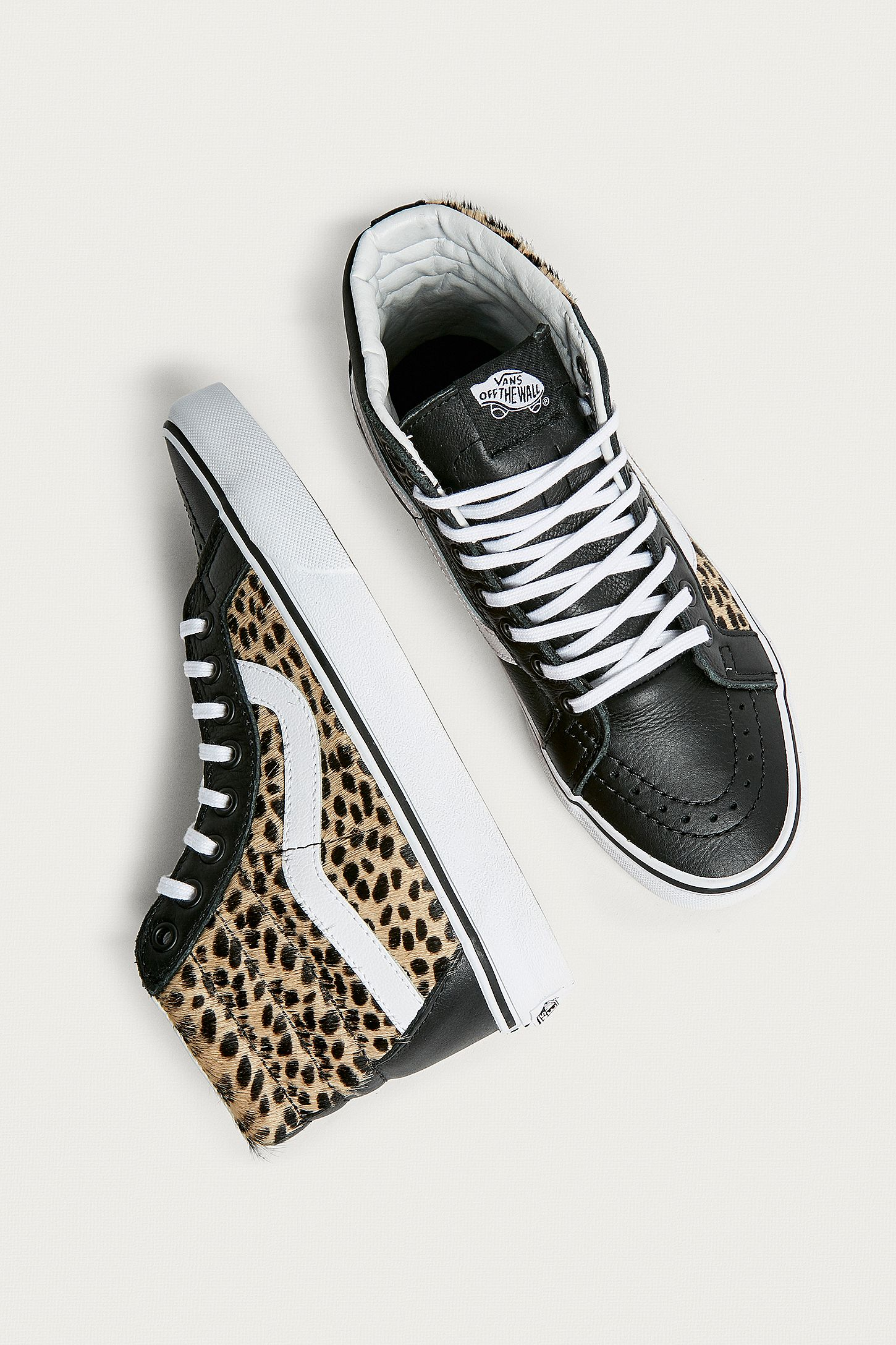 ad5917825e Vans Sk8-Hi Reissue Leopard Print Trainers