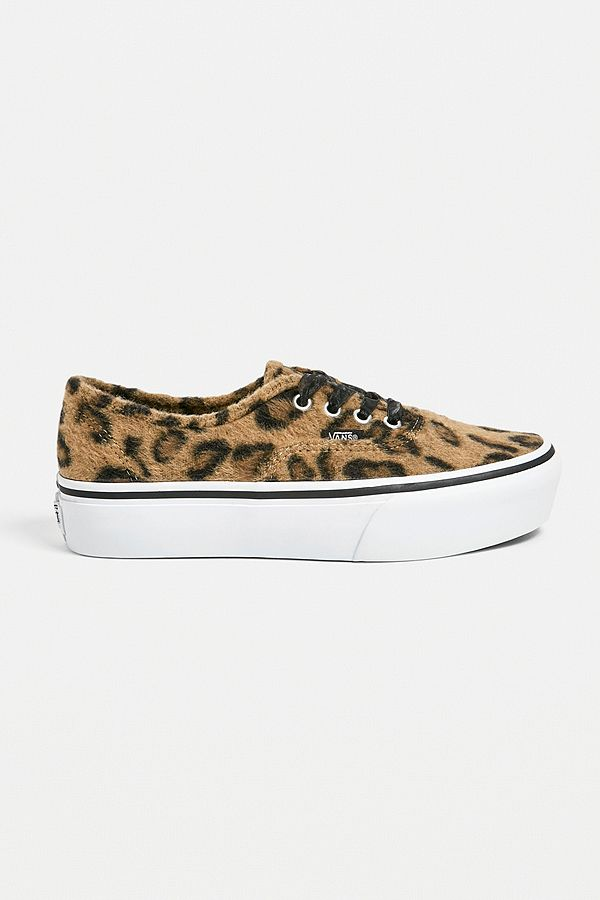 41f90cad88 Vans Authentic Fuzzy Leopard Print Trainers